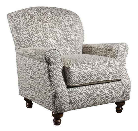 Corinthian 56A0 Contrast Accent Chair - Item Number: AC2356A-Luniss-Pewter