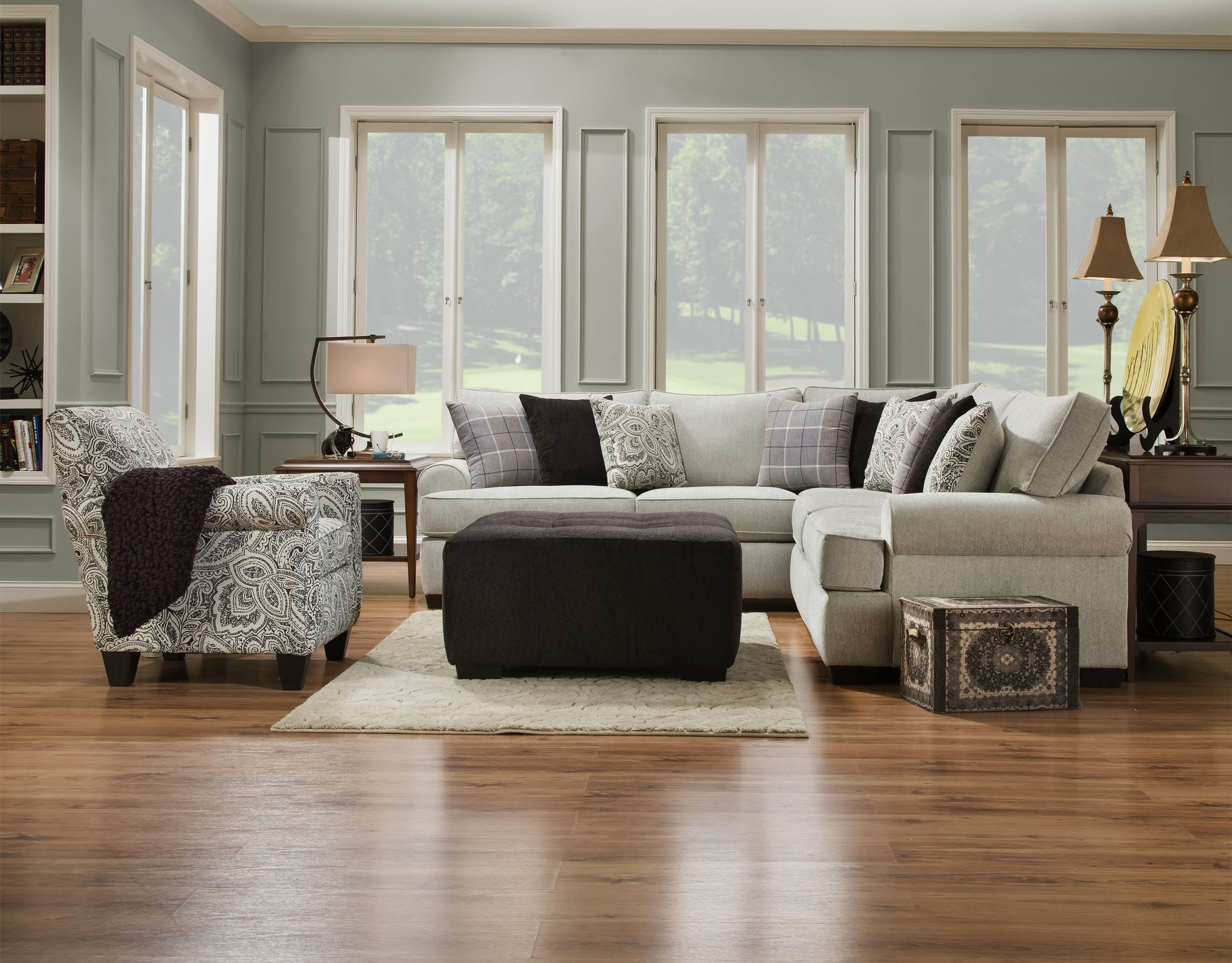 Corinthian 5900 Armless Chair - Item Number: 5901na