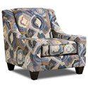 Corinthian 6000 Accent Chair - Item Number: AC2060-Patchquilt-Cornflower
