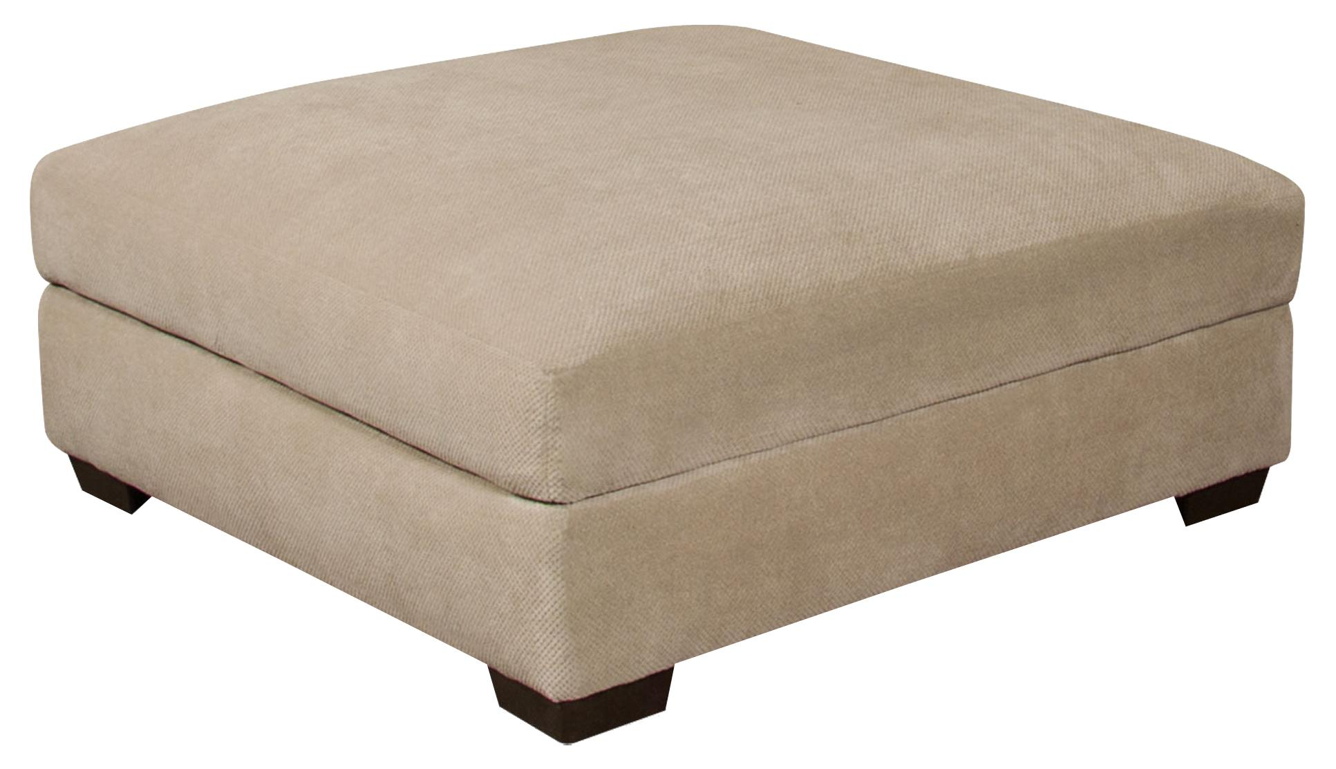 Corinthian 61A0  Bacarat Taupe Cocktail Ottoman - Item Number: 61A6