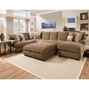 Corinthian 61B0 Sectional Sofa with Right Side Chaise