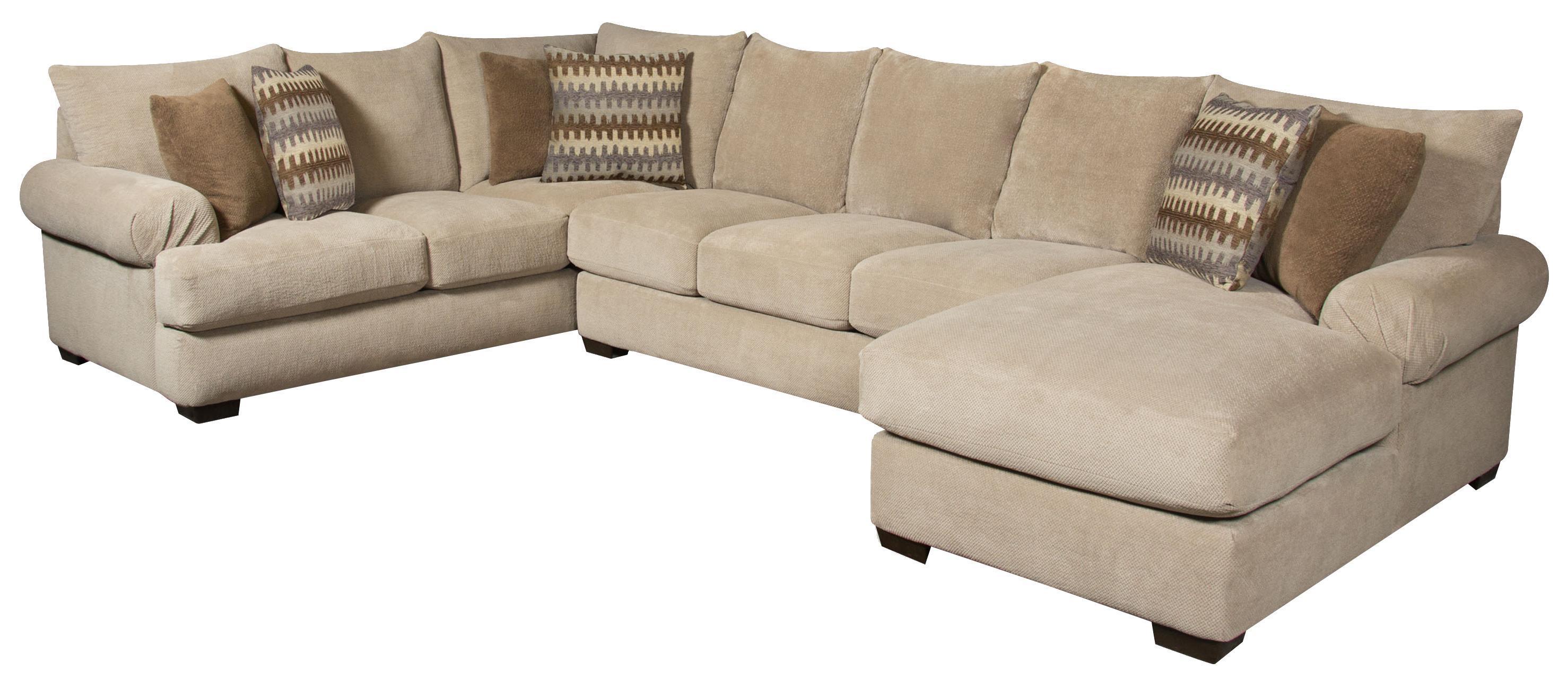 Corinthian Bacarat Bacarat Taupe 3 Piece Sofa Sectional - Item Number: CORI-GRP-61X-SECTIONAL