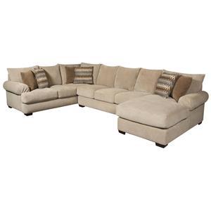 Corinthian Bacarat Bacarat Taupe 3 Piece Sofa Sectional