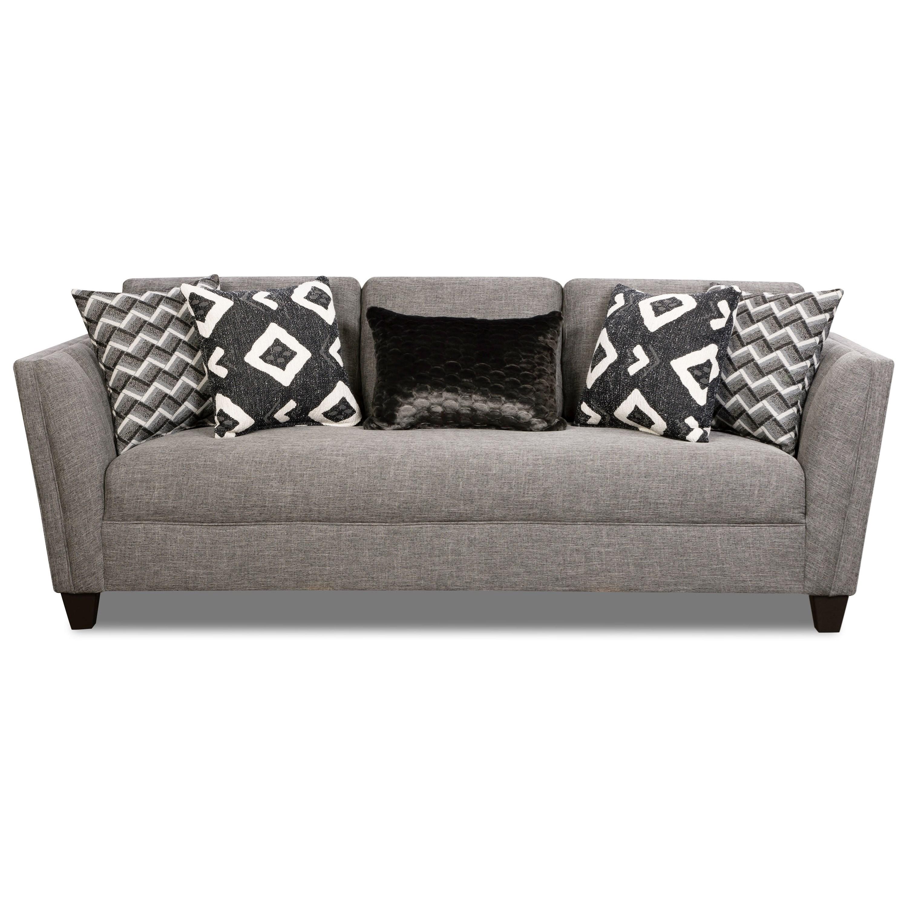 Corinthian Paradigm Carbon Sofa - Item Number: 6203-Paradigm-Carbon