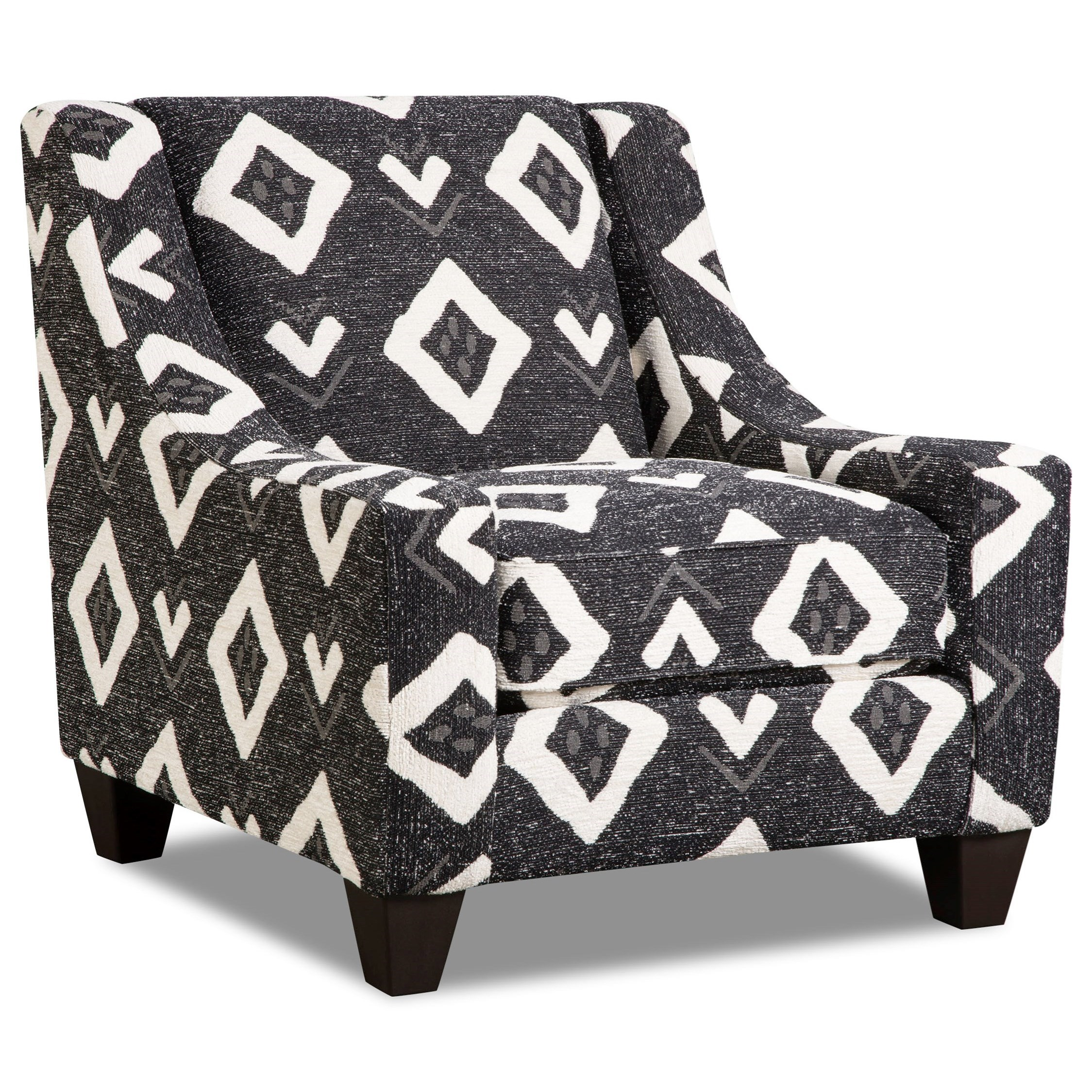 Corinthian Paradigm Carbon Accent Chair - Item Number: AC2062-Yuban-Tuxedo