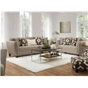 Corinthian Paradigm Silt Sofa and Loveseat - Item Number: GRP-623X-SL