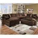 Corinthian 6500 SECT Sectional Sofa - Item Number: 6505LF+3NA+3RF