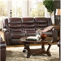 Corinthian 655 Motion Group Power Recline Sofa - Item Number: 65502-39-Sali-Burg