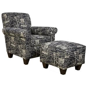 Corinthian 6610 Chair and Ottoman