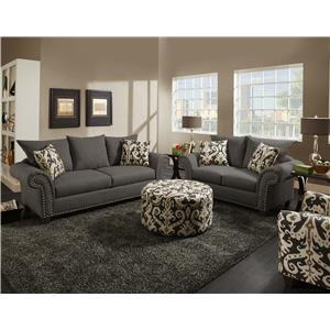 Corinthian 66D0 Stationary Living Room Group