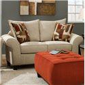 Corinthian 65A0 Love Seat Sofa - Item Number: 65A2-Buckshot-Shells