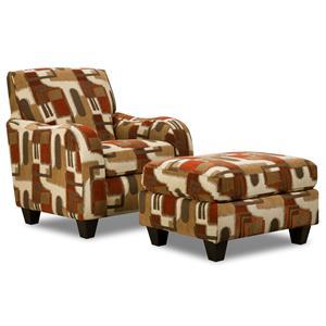 Corinthian 65A0 Chair and Ottoman