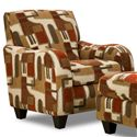 Corinthian 65A0 Accent Chair - Item Number: AC1665B-Jericho-Cayenne