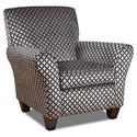 Corinthian 66J0 Accent Chair - Item Number: AC1466J-Niko-Onyx