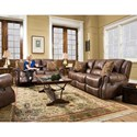 Corinthian 69901 Recline Console Loveseat - Recline Handle Shown May Differ From What is Indicated
