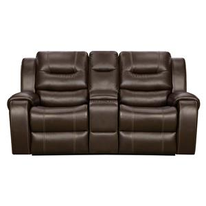 Corinthian Madison Reclining Console Loveseat