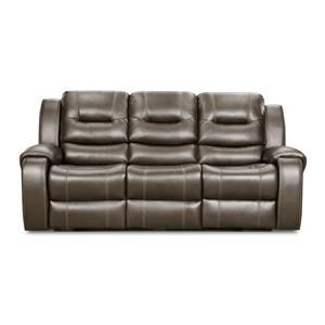 Corinthian 71407 Jamestown Smoke Reclining Sofa