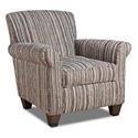 Corinthian Rapids Tuxedo Accent Chair - Item Number: AC8737