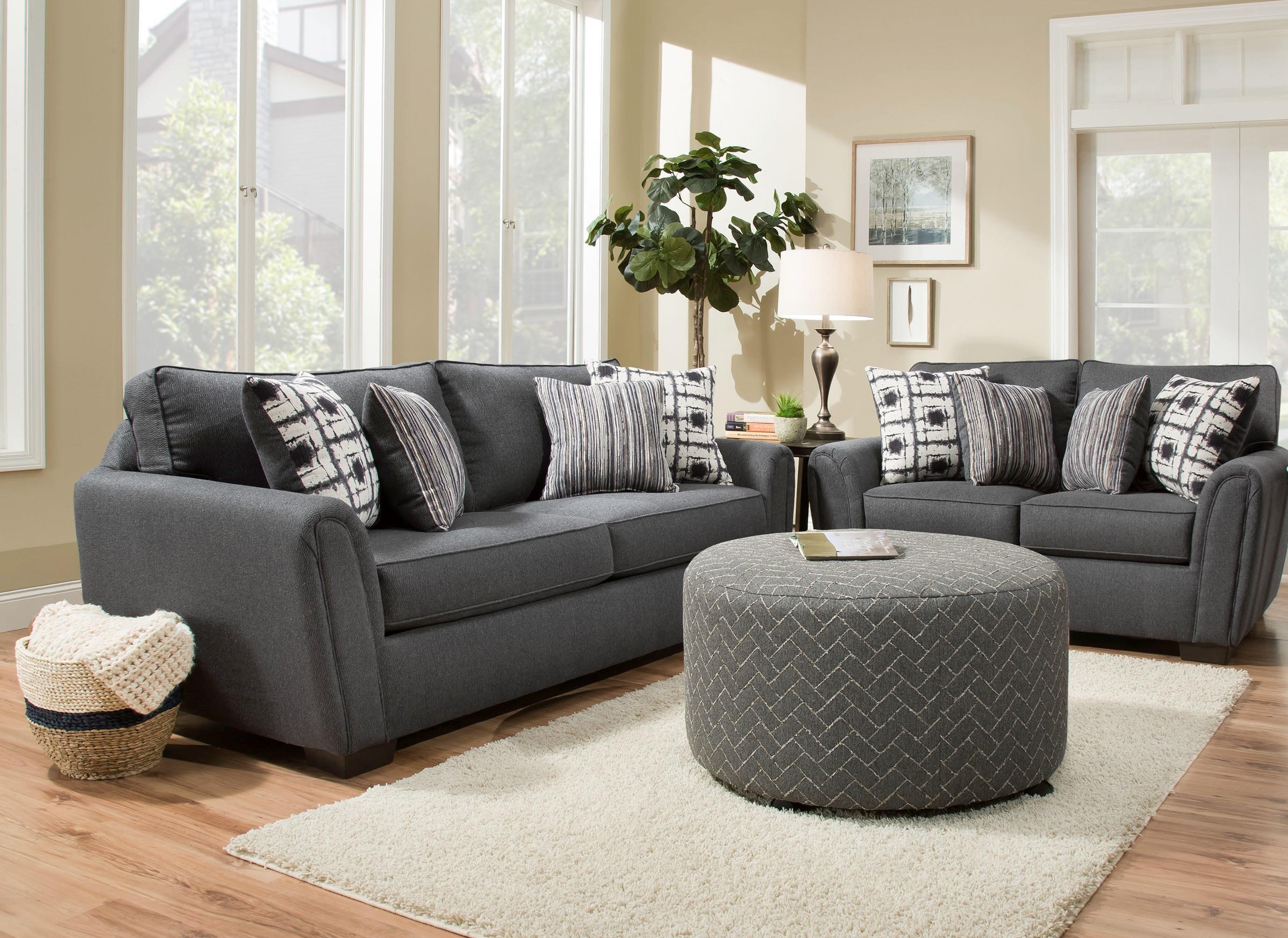 Corinthian Rapids Sofa and Loveseat Set - Item Number: GRP-737X-S L