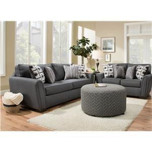 Corinthian Rapids Sofa and Loveseat Set