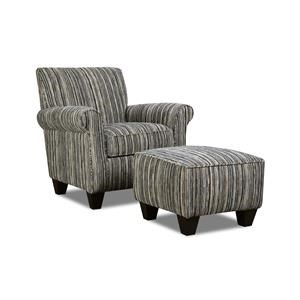 Corinthian Rapids Tuxedo Accent Chair & Ottoman Set