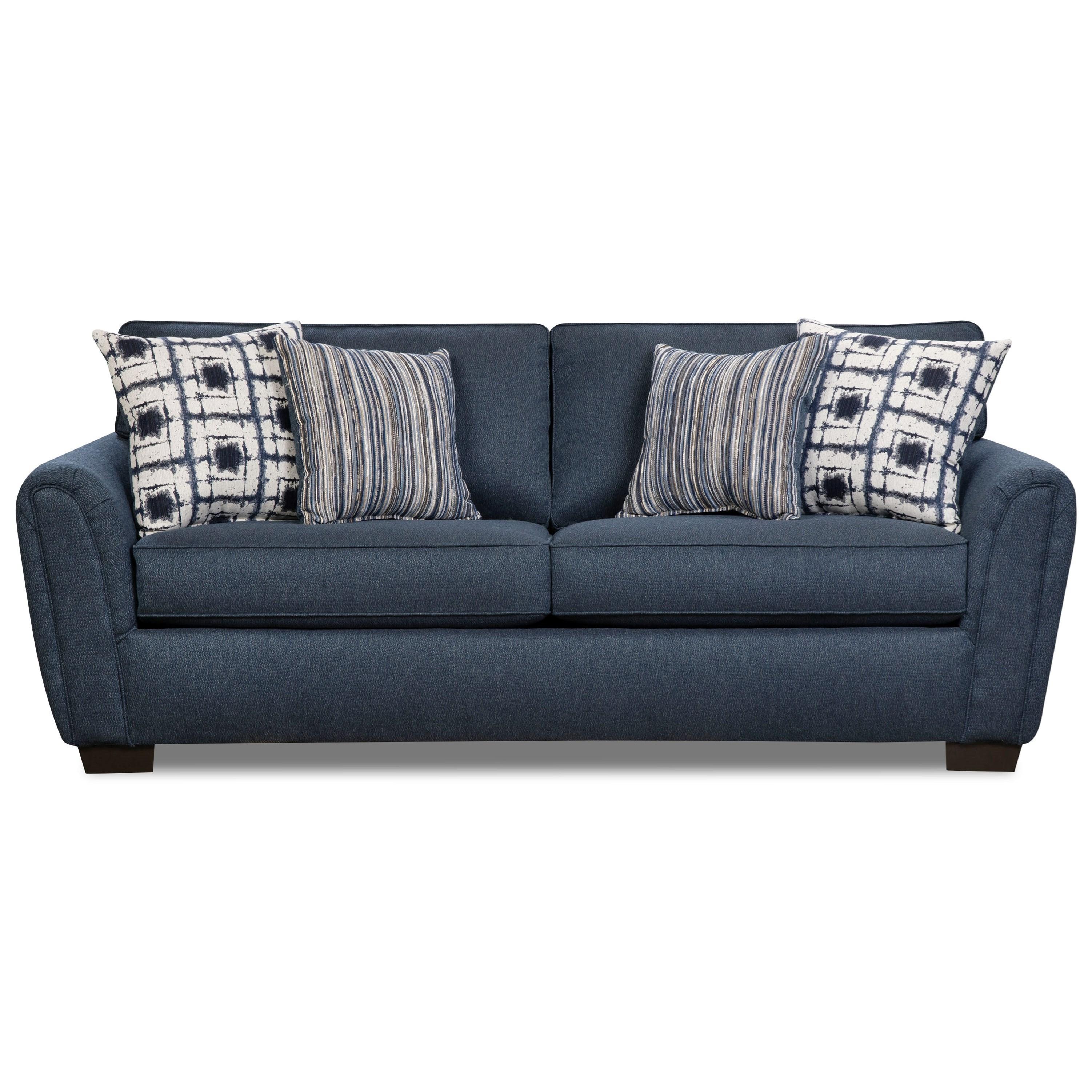 Corinthian 7380 Two Seat Sofa - Item Number: 7383-Rapids-Navy