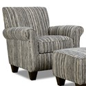 Corinthian 7370 Contrast Accent Chair - Item Number: AC8737-Awesome-Tuxedo
