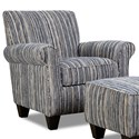 Corinthian 7380 Contrast Accent Chair - Item Number: AC8738-Awesome-Indigo
