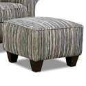 Corinthian 7370 Contrast Accent Ottoman - Item Number: AO4737-Awesome-Tuxedo