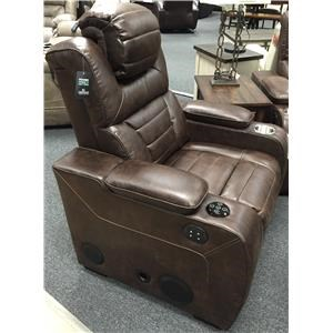 Corinthian 73901 73901 39hr Power Headrest Recline Sofa Furniture Fair North