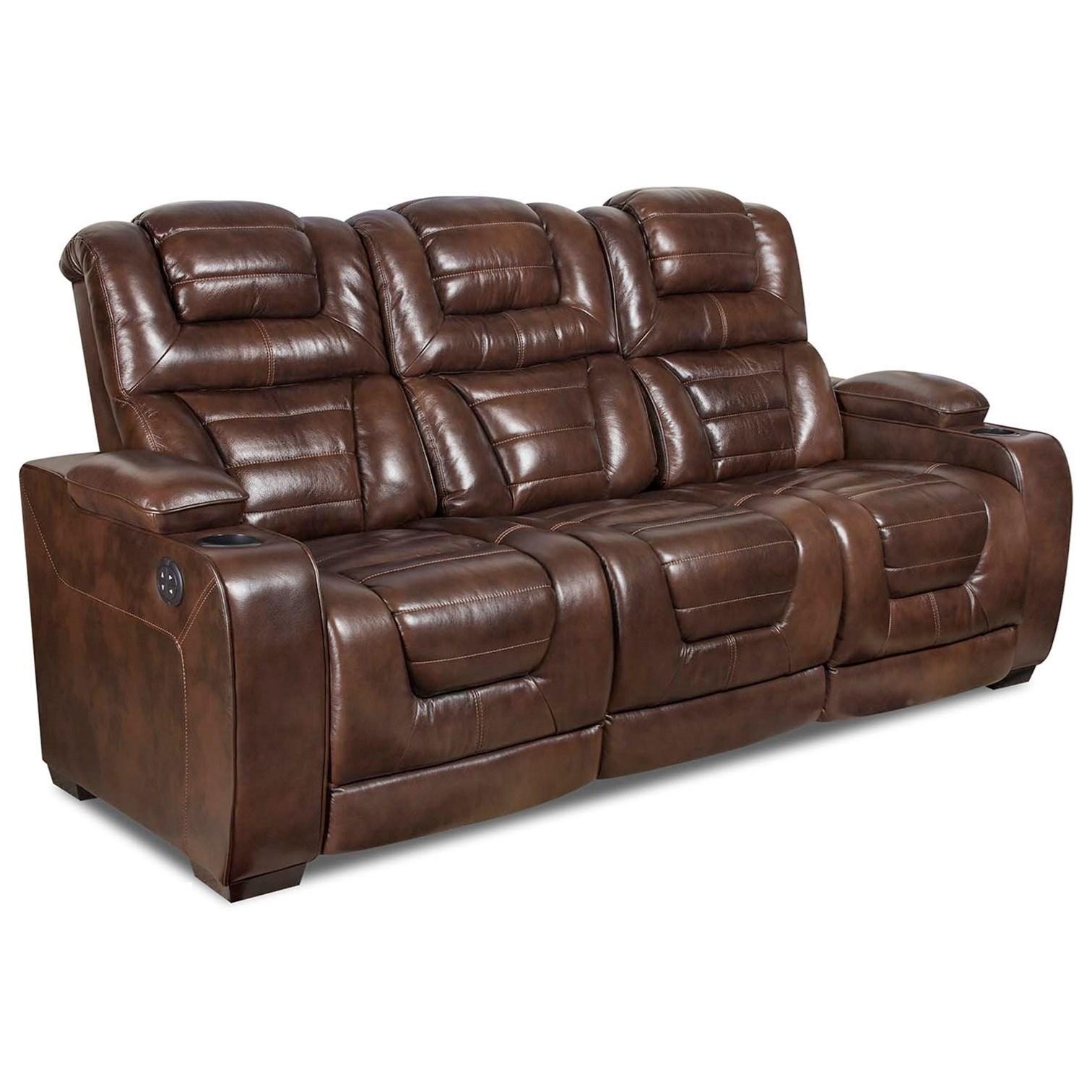 Corinthian 73901 Power Headrest Recline Sofa - Item Number: 73904-39HR