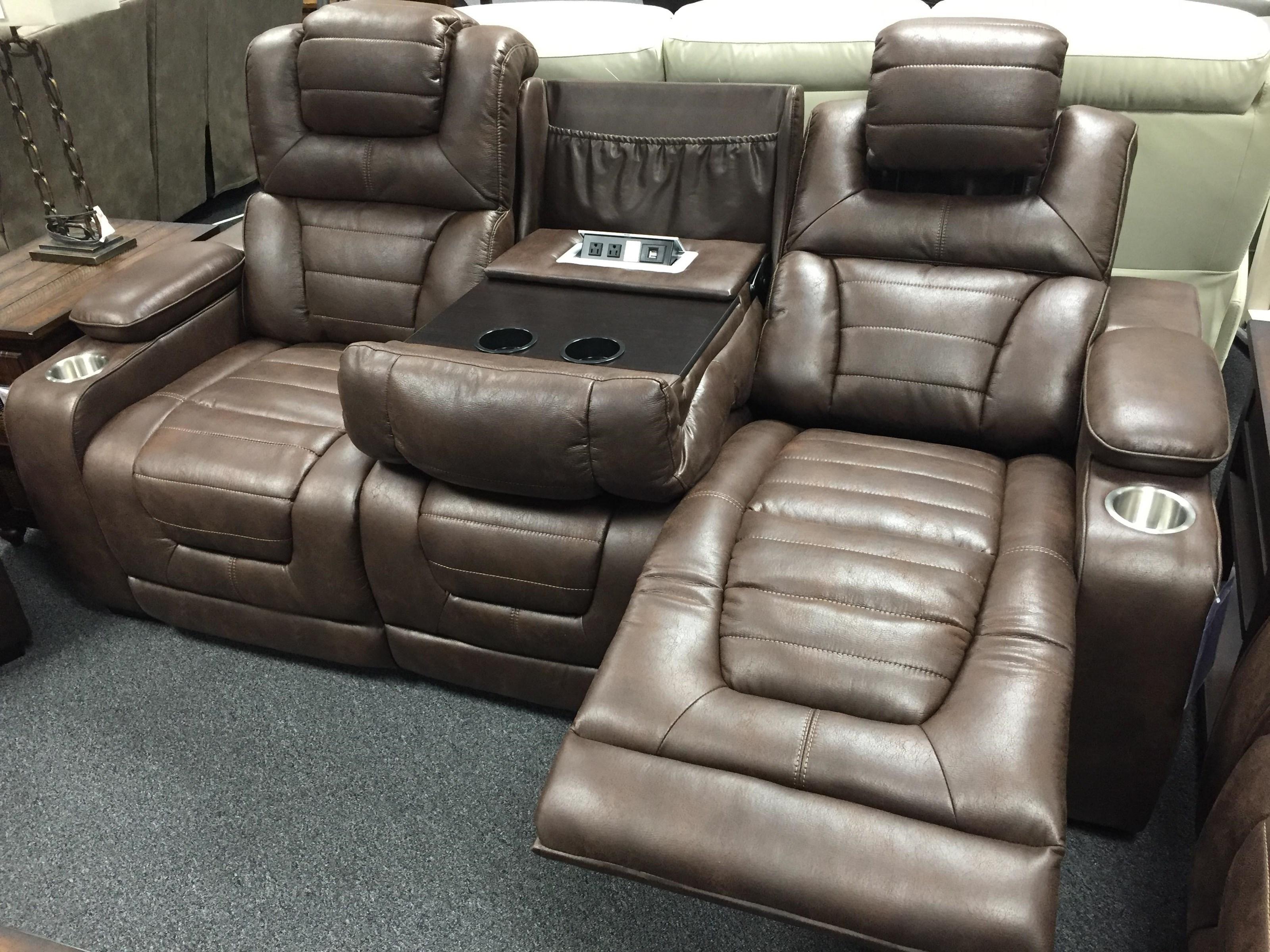 Corinthian 73901 73901 39hr Power Headrest Recline Sofa
