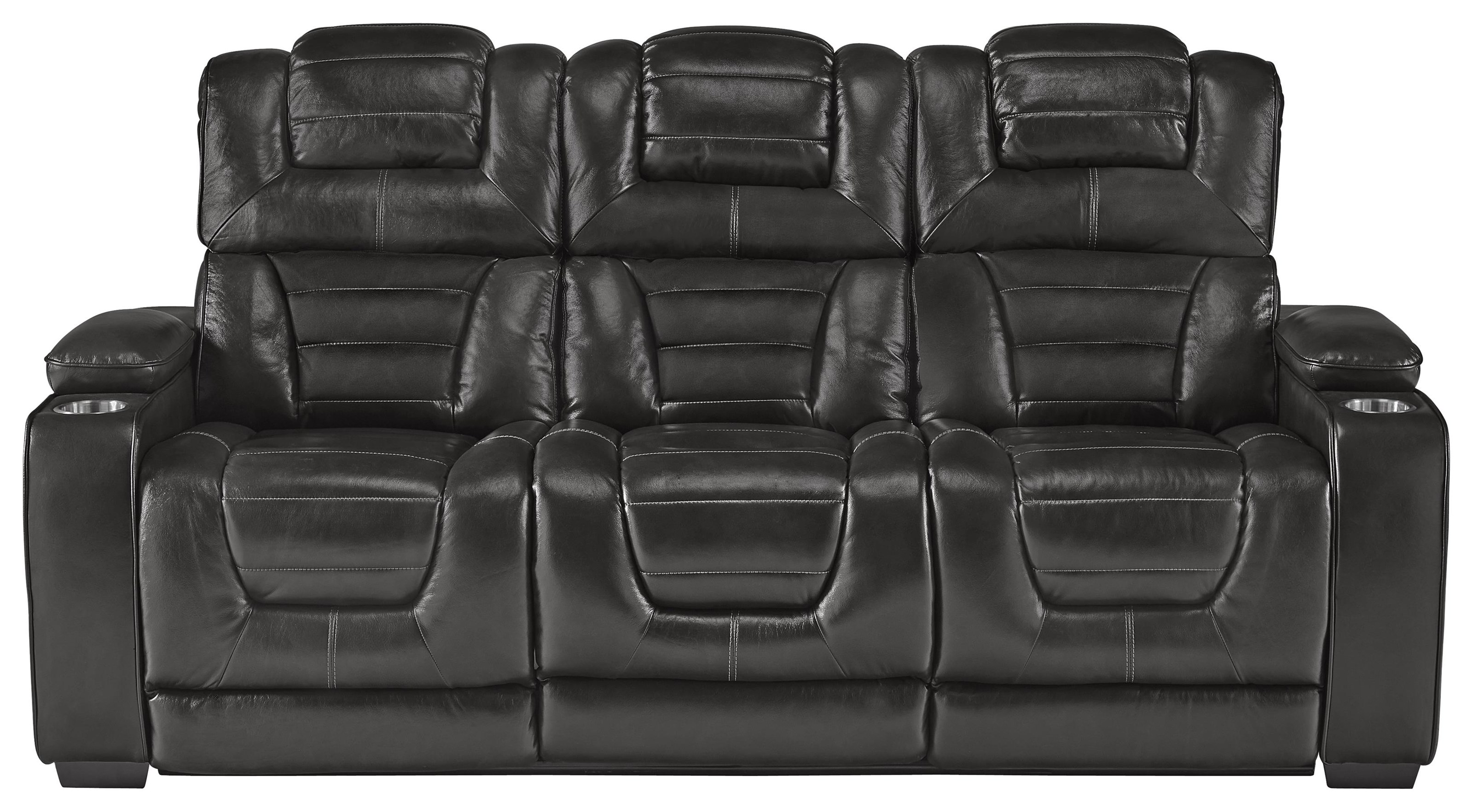 Power Headrest Recline Sofa