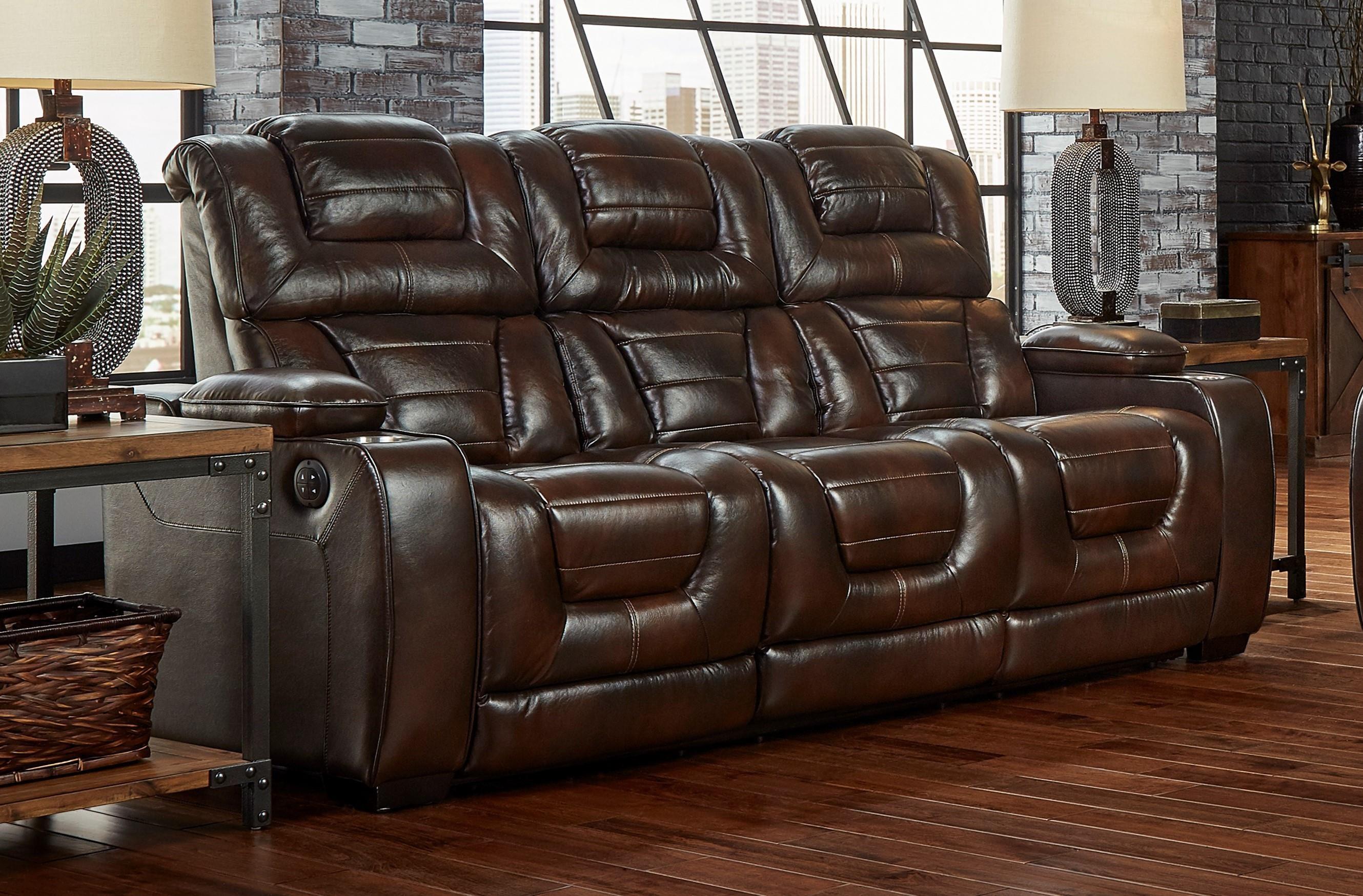 L73901 Power Headrest Recline Sofa by Corinthian at Furniture Fair - North Carolina