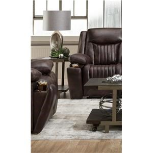 Power Leather Headrest Recliner with USB Port