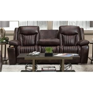 Leather Power Headrest Sofa with Drop Table