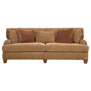 Corinthian 8000 Upholstered Stationary Sofa With Nail Head