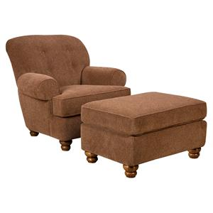 Corinthian 8000 Accent Chair and Ottoman