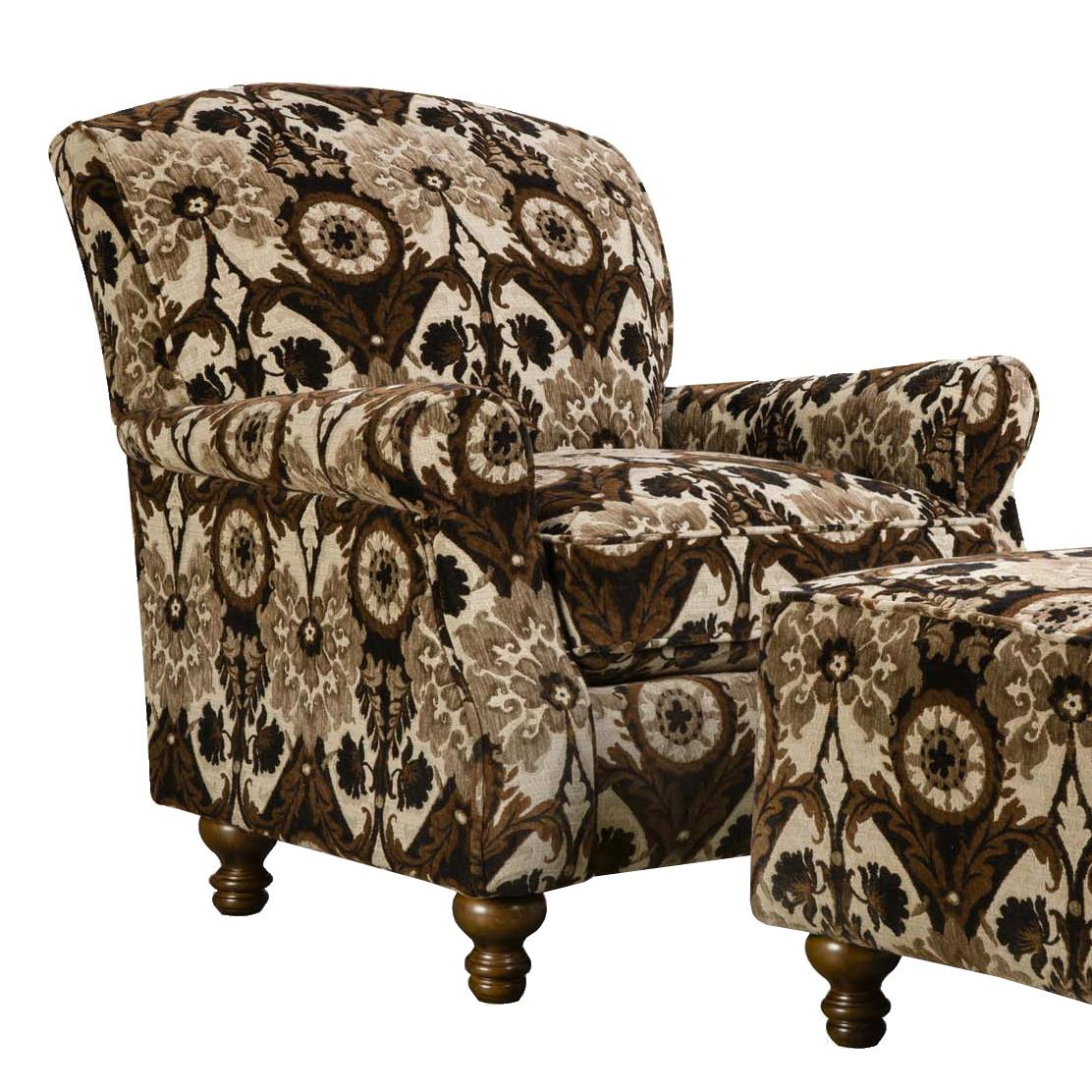 Corinthian 8010 Contrast Accent Chair - Item Number: AC2380-Charleston-BlackPearl