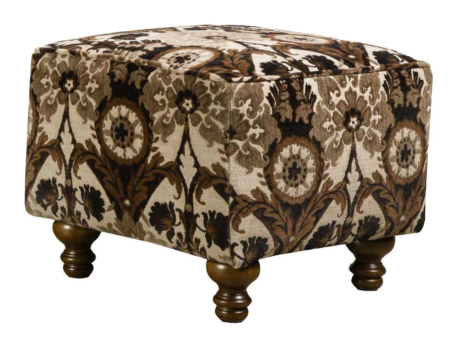 Corinthian 8010 Contrast Accent Ottoman - Item Number: AO2380-Charleston-BlackPearl