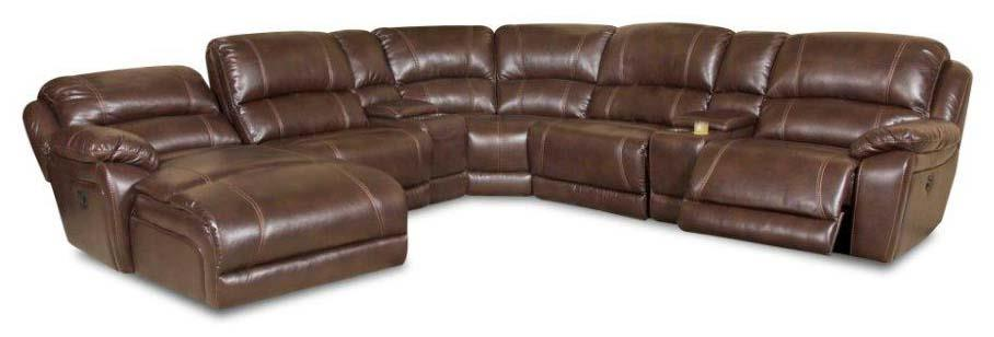 83204 Reclining Sectional Sofa by Powell's V.I.P. at Powell's Furniture and Mattress