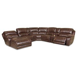 Corinthian 83204 Reclining Sectional Sofa