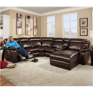 Corinthian 862 Sectional Sofa With 5 Seats