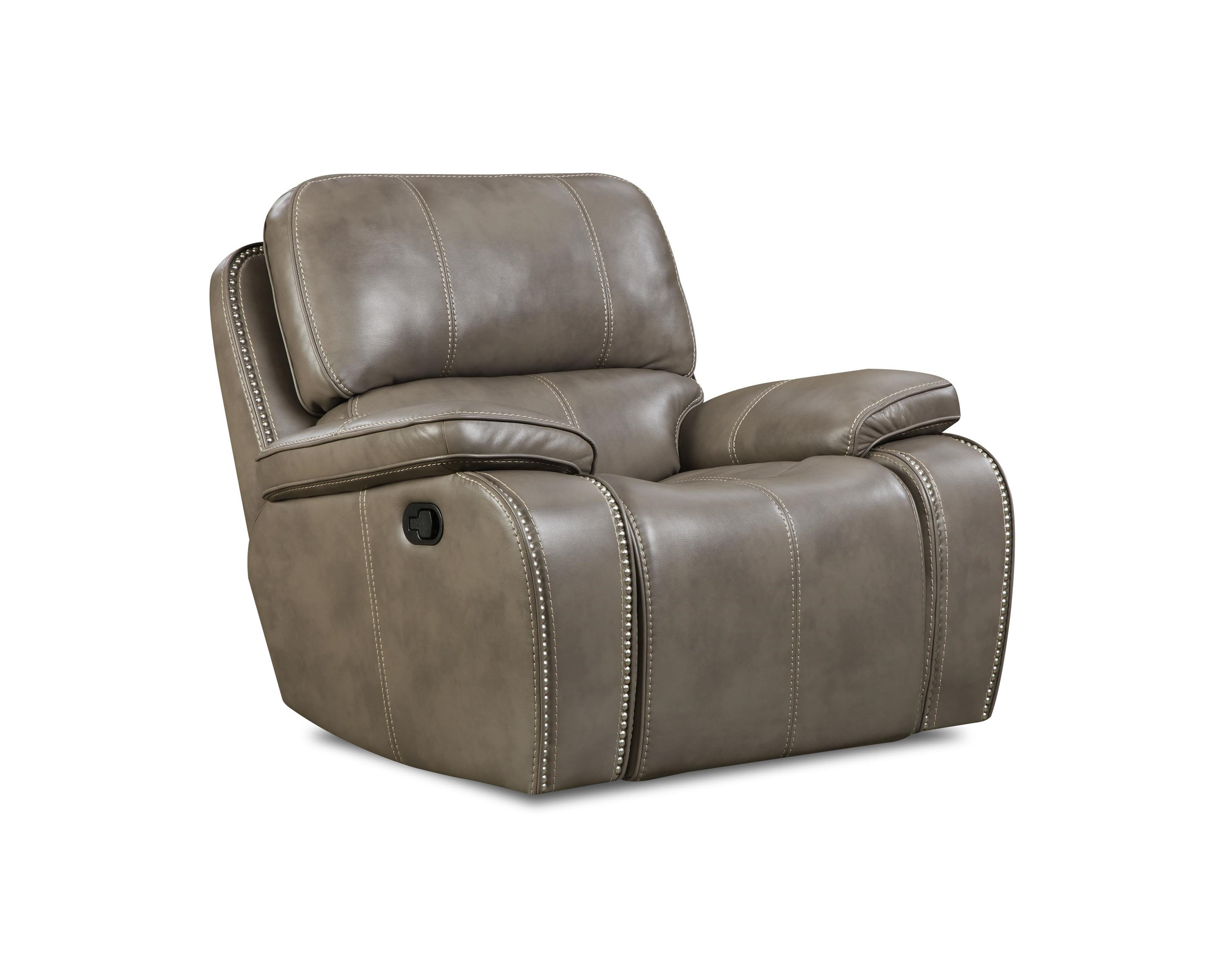 Corinthian Jamestown Smoke Glider Recliner - Item Number: 88907-10G