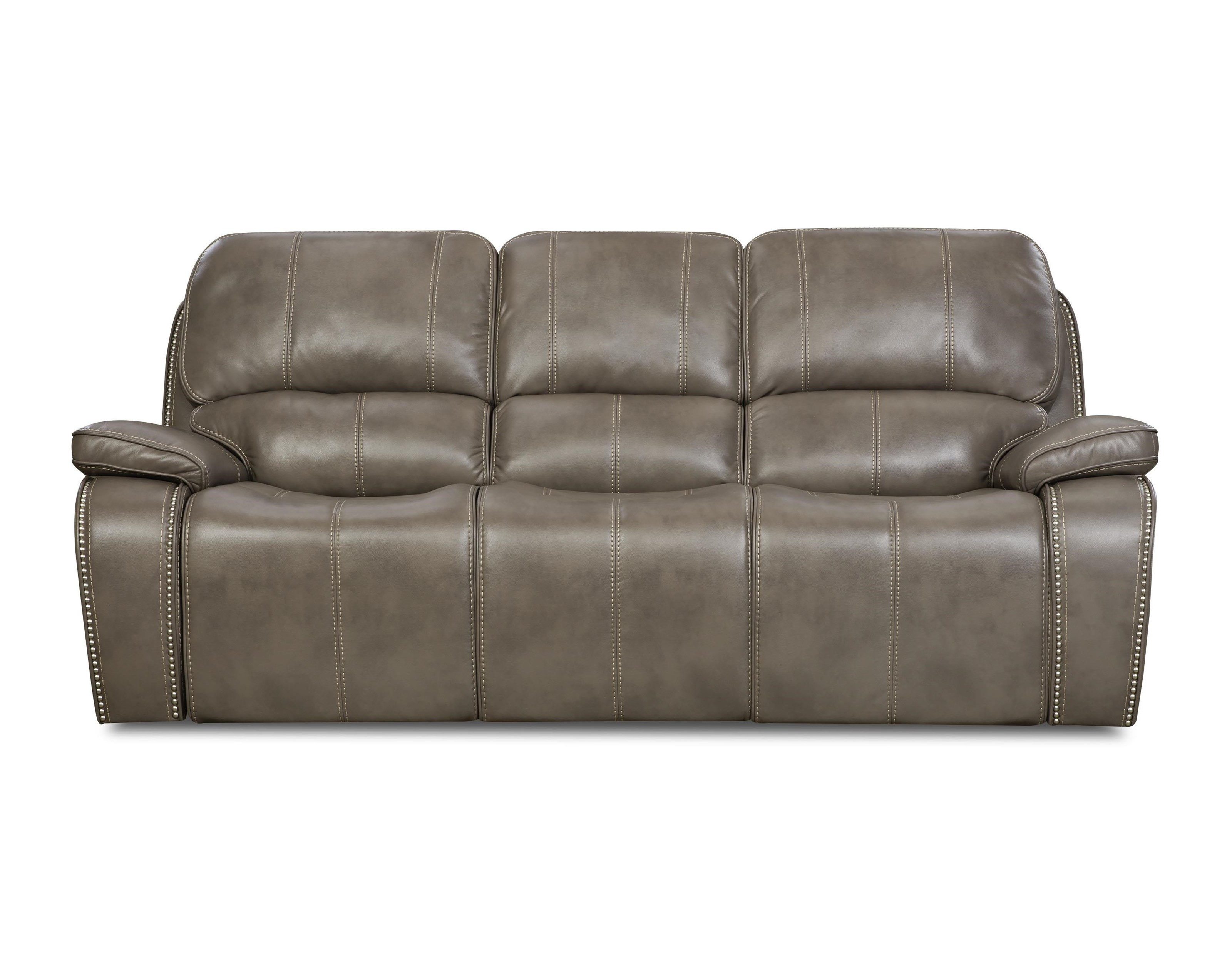 Corinthian Jamestown Smoke Reclining Sofa - Item Number: 88907-30