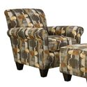 Corinthian 90A Accent Chair - Item Number: AC890A-Rollingstones-Bayside