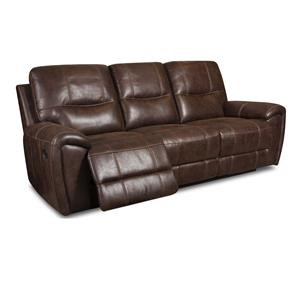 Corinthian 91001 Desert Chocolate Reclining Sofa