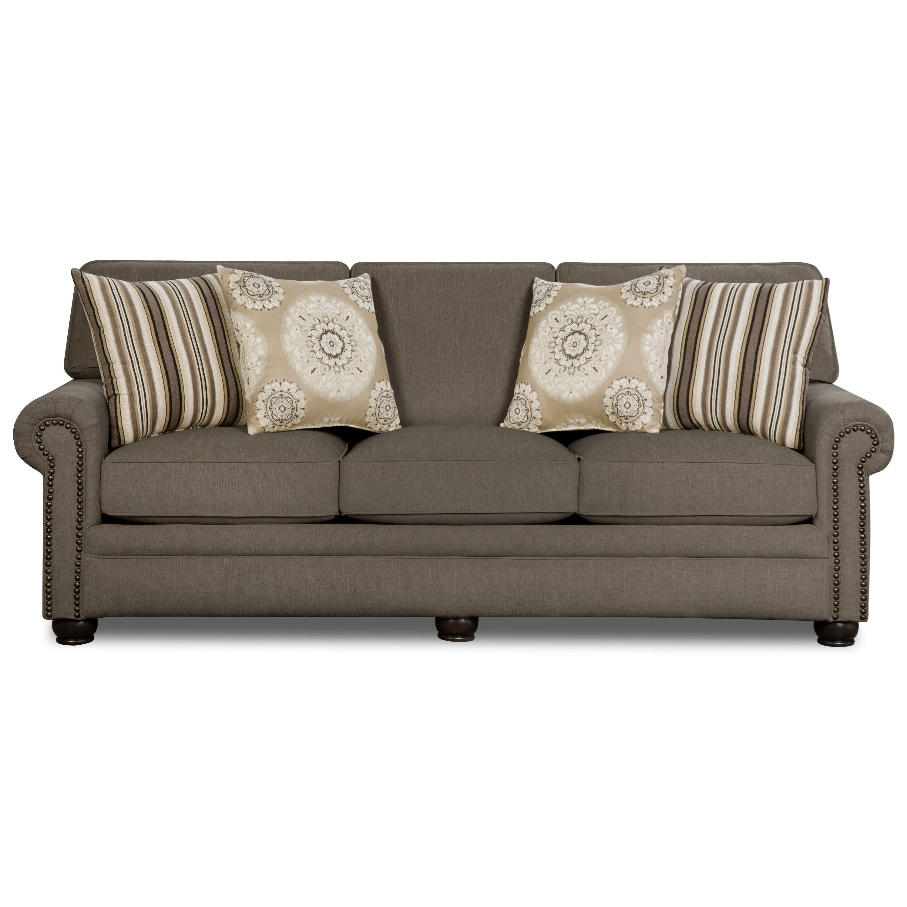 Corinthian 97B0 Sofa - Item Number: FG97B3-FAIRLEY-DARKSTONE