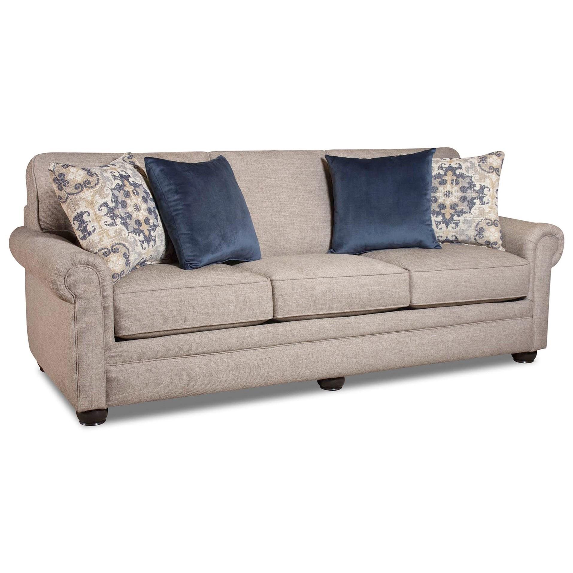 Corinthian 97C0 Sofa - Item Number: FG97C3-LILOU-HEATHER