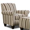 Corinthian 97A0 Chair - Item Number: AC897A-Fairleystripe-Linen